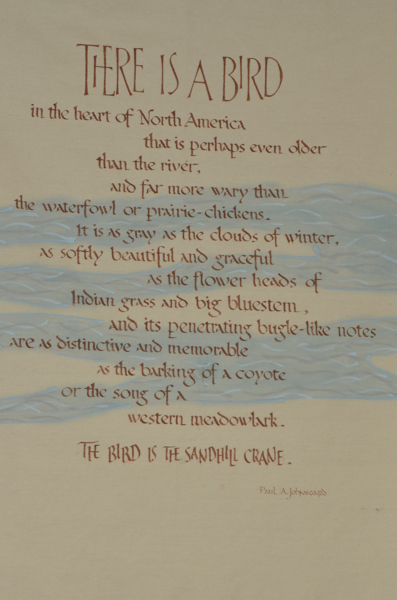 A poem from the walls of the Rowe Sanctuary on the Platte River in Nebraska.