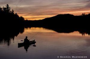 Fishing at Bog River