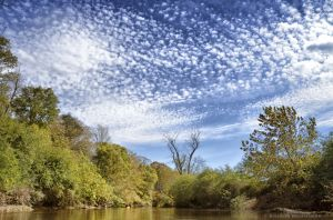 Clouds over the French Broad